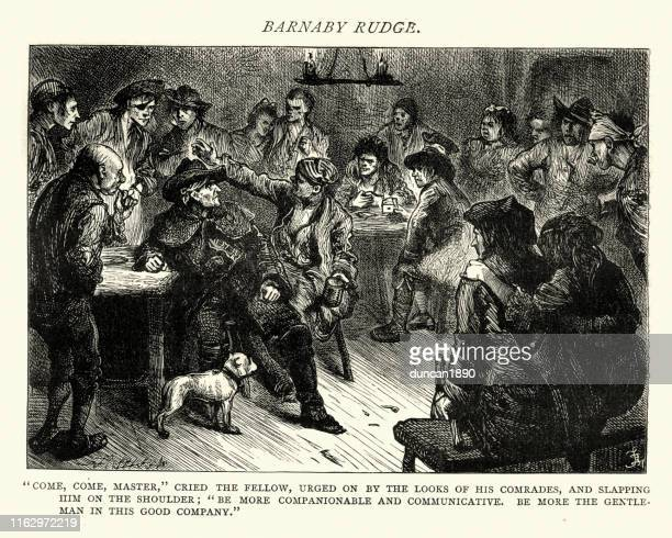 dickens, barnaby rudge, more the gentleman in this good company - sneering stock illustrations, clip art, cartoons, & icons