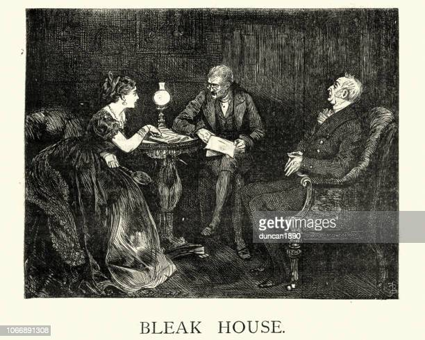 dickens, bleak house, - remote location stock illustrations