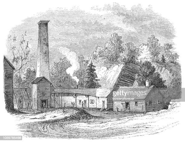 Dickerson Iron Mine in Mine Hill Township, New Jersey, USA (19th Century)