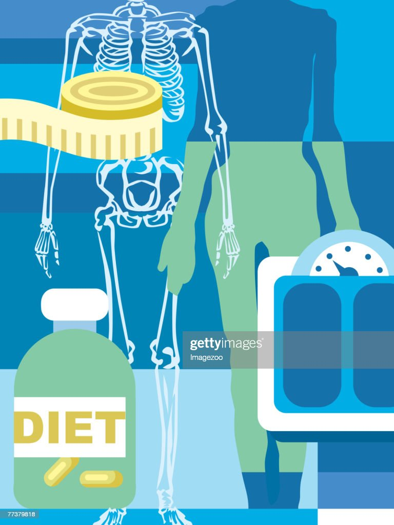 diets and eating disorders : Illustration