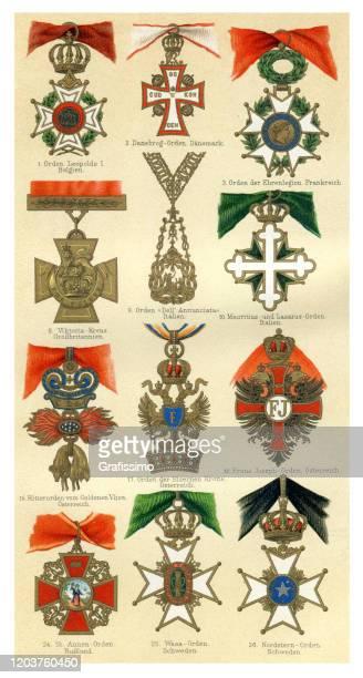 verschiedene antiquitäten-auszeichnung aus der ganzen welt - ehre stock-grafiken, -clipart, -cartoons und -symbole