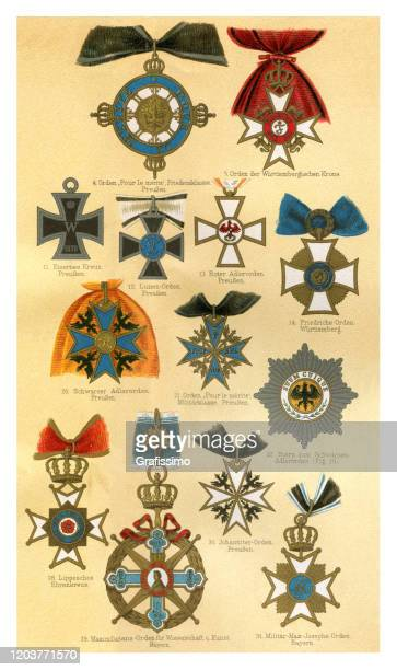 verschiedene antiquitätenauszeichnung aus deutschland - ehre stock-grafiken, -clipart, -cartoons und -symbole