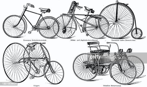 自転車の異なるスタイル - 19世紀点のイラスト素材/クリップアート素材/マンガ素材/アイコン素材