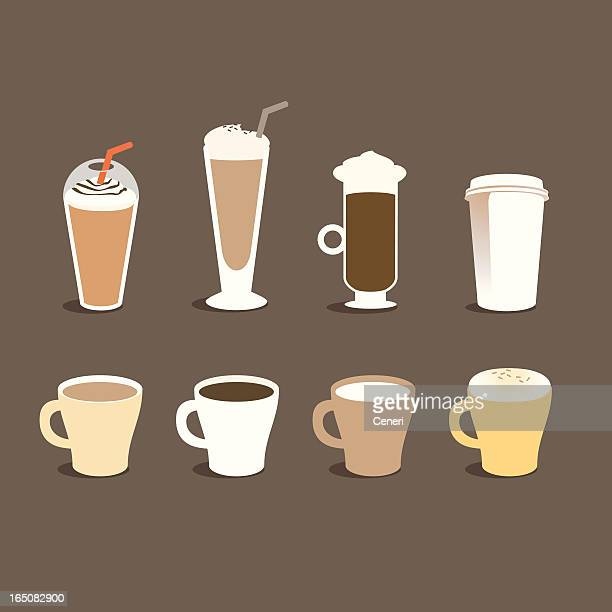 different types of coffee - whipped cream stock illustrations, clip art, cartoons, & icons