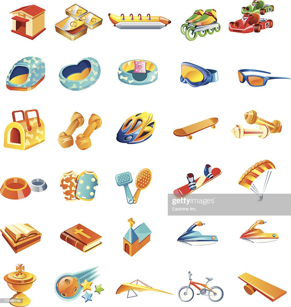 different types of objects ベクトルアート getty images
