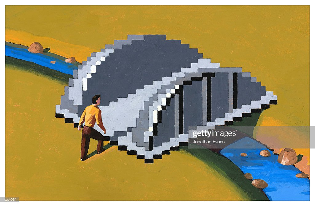 Digital Bridge : Stock Illustration