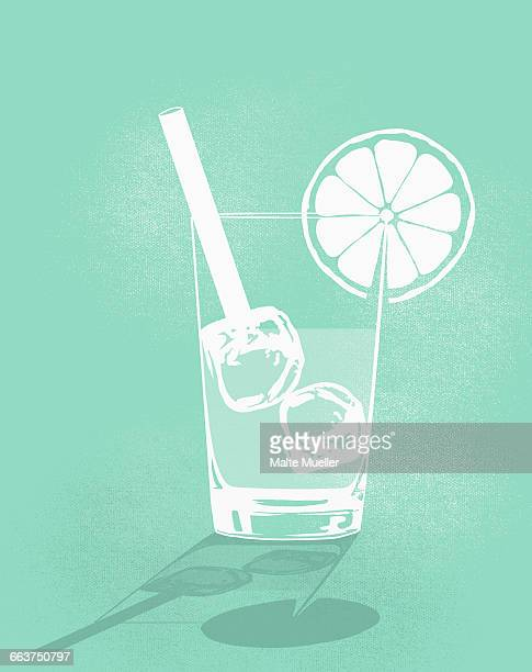 digital composite image of cold drink against green background - glazed food stock illustrations, clip art, cartoons, & icons