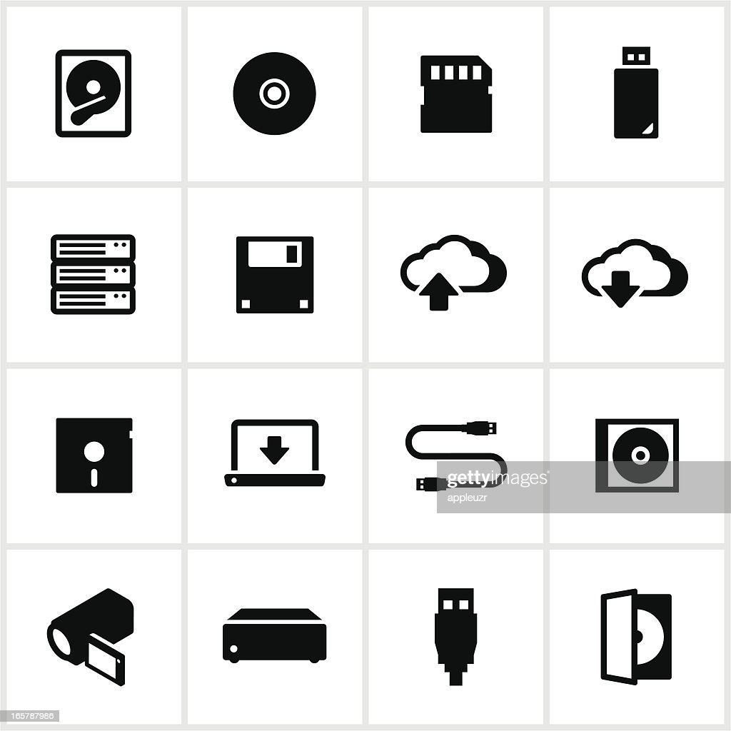 Digital Data Storage Icons