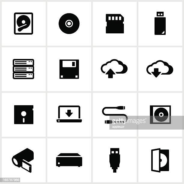 digital data storage icons - floppy disk stock illustrations, clip art, cartoons, & icons
