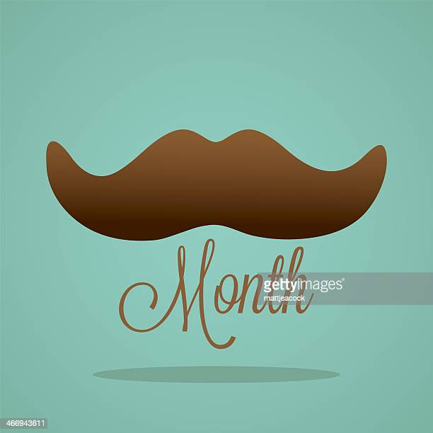 Digital design for Moustache Month.