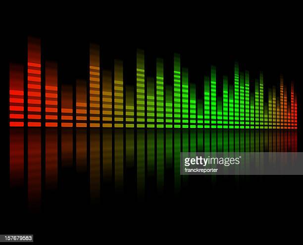 Digital equalizer bar graph , green ad red color