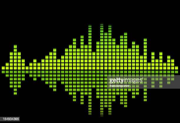 digital equalizer - green tone - audio equipment stock illustrations
