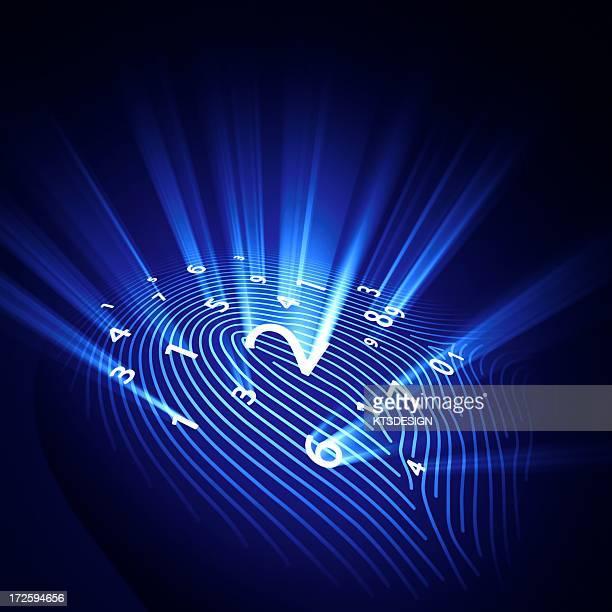 Digital fingerprint, conceptual artwork