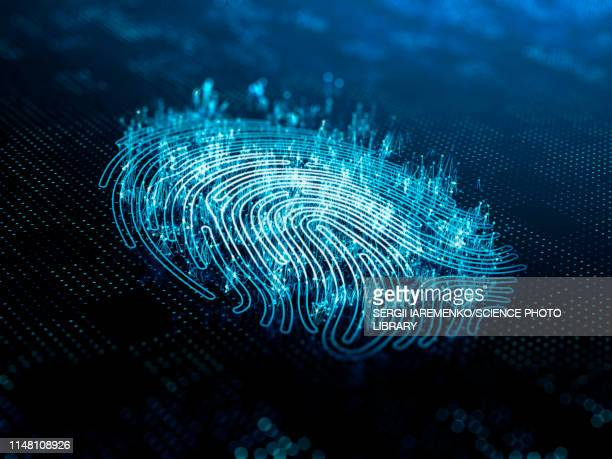 digital fingerprint, illustration - digitally generated image stock illustrations