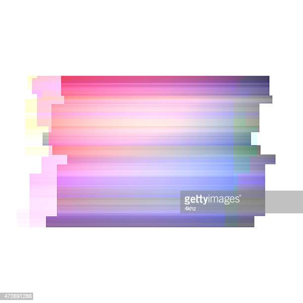 Digital Glitch Stock Graphic Art Distorted Colorful Frame Background