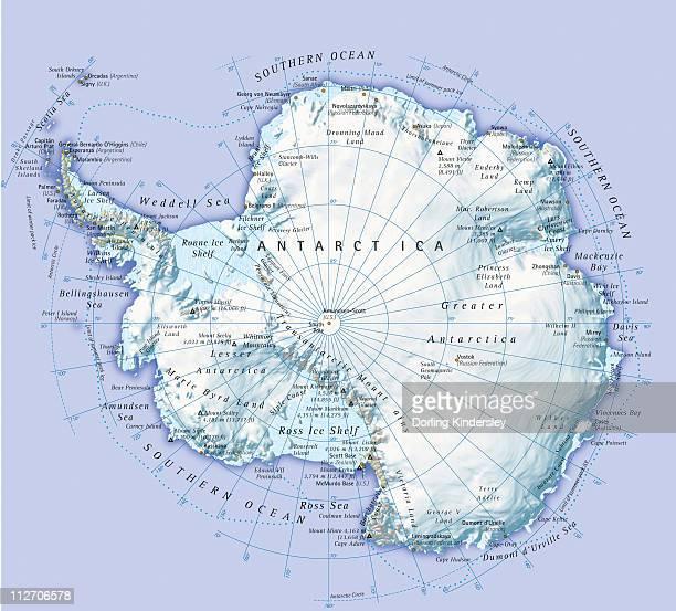 digital illustration of antarctica - antarctica stock illustrations, clip art, cartoons, & icons