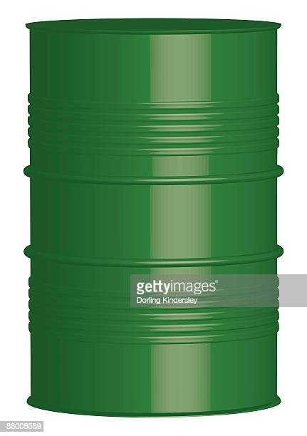 digital illustration of green oil drum - oil drum stock illustrations, clip art, cartoons, & icons