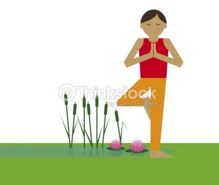 digital illustration representing woman meditating in