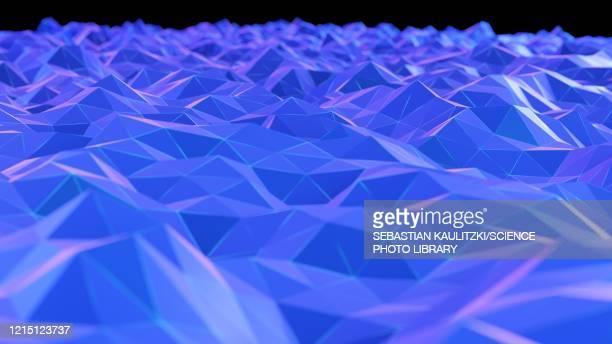 digital landscape, illustration - triangle shape stock illustrations