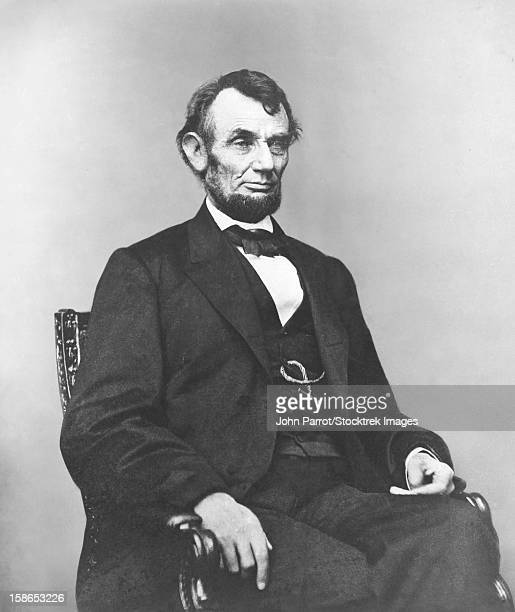 Digitally restored Civil War era painting of President Abraham Lincoln.
