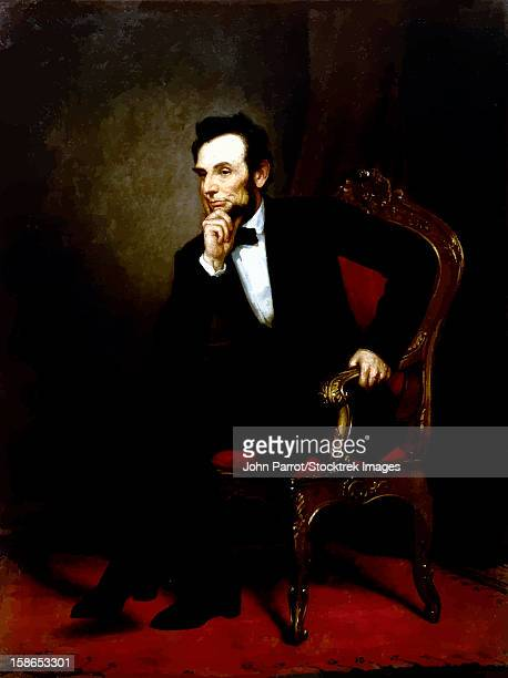 Digitally restored vector painting of Abraham Lincoln, the 16th President of the United States of America.