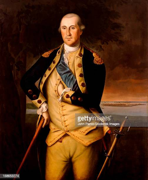 Digitally restored vector painting of General George Washington. George Washington was the leader of the Continental Army against the British Empire and the first President of the United States.