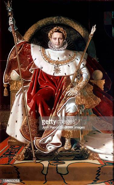 stockillustraties, clipart, cartoons en iconen met digitally restored vector painting of napoleon bonaparte. - koningschap