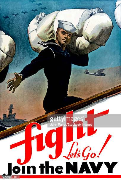 digitally restored war propaganda poster. - us navy stock illustrations, clip art, cartoons, & icons