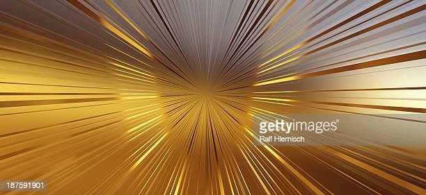 ilustraciones, imágenes clip art, dibujos animados e iconos de stock de diminishing perspective of seamless golden lines - emerger