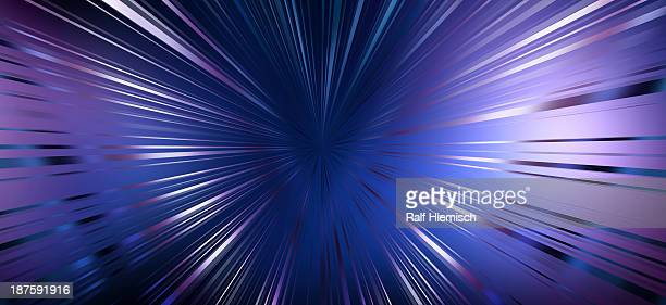 diminishing perspective of shiny seamless colored lines - appearance stock illustrations