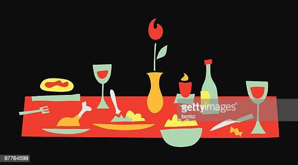 illustrations, cliparts, dessins animés et icônes de dîner en noir - aperitif dinatoire