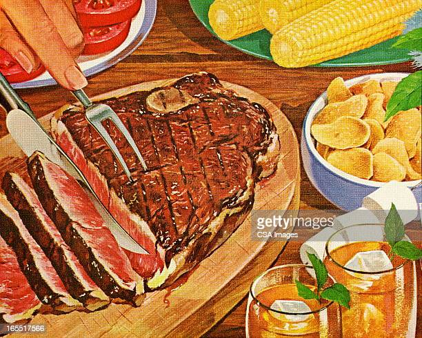 Dinner with Grilled Steak