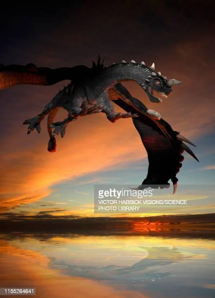 dinosaur, illustration - victor habbick stock illustrations