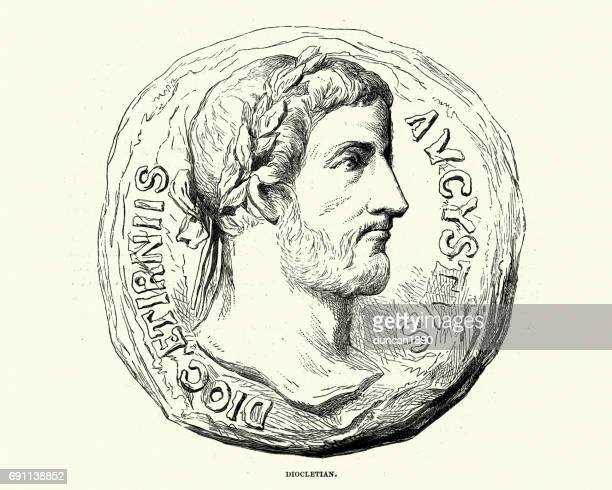 diocletian, roman emperor - emperor stock illustrations, clip art, cartoons, & icons