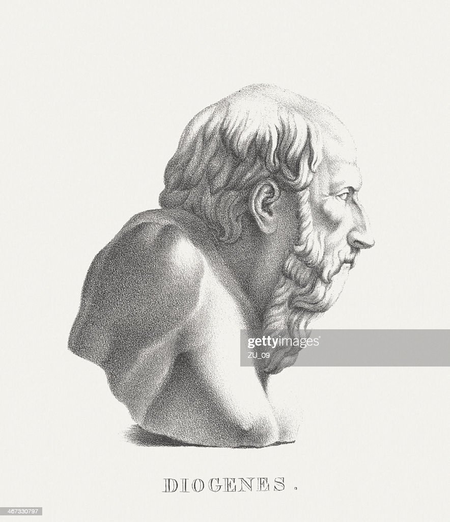 Diogenes Of Sinope Lithograph Published C 1830 High Res