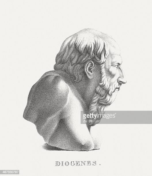 Diogenes of Sinope (ancient Greek philosopher), lithograph, published c. 1830