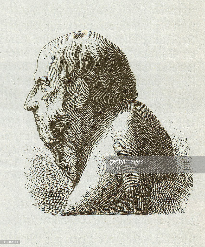 Diogenes Of Sinope Wood Engraving Published 1882 High Res