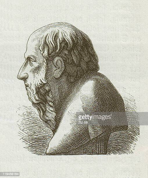 Diogenes of Sinope (c. 400/390-328/323 BC), wood engraving, published 1882