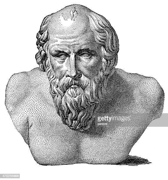 ilustraciones, imágenes clip art, dibujos animados e iconos de stock de diógenes la cínico - filosofos griegos