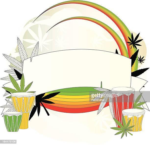 ilustrações de stock, clip art, desenhos animados e ícones de sujo grunge reggae banner - reggae