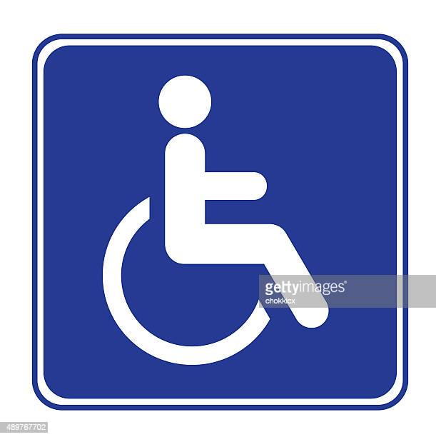 disabled or handicap sign - disabled sign stock illustrations, clip art, cartoons, & icons