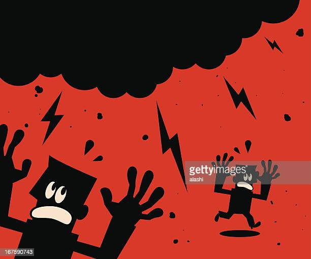 disaster - judgment day apocalypse stock illustrations, clip art, cartoons, & icons