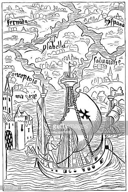 ilustraciones, imágenes clip art, dibujos animados e iconos de stock de descubrimiento de las indias occidentales de cristóbal colón - cristobal colon