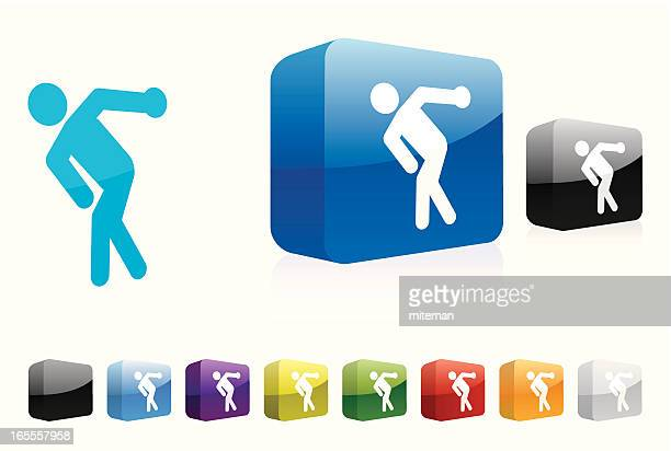 discus | 3d collection - discus stock illustrations, clip art, cartoons, & icons