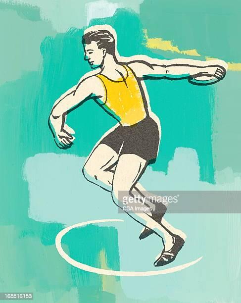 discus throw - discus stock illustrations, clip art, cartoons, & icons