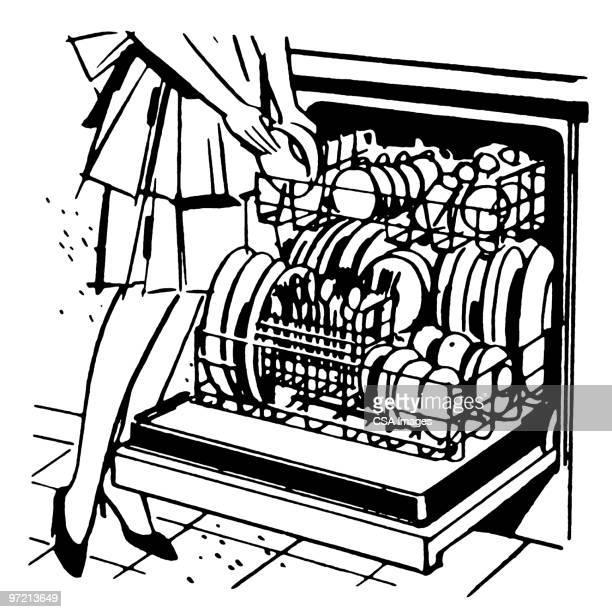 Dishwasher Premium Stock Illustrations