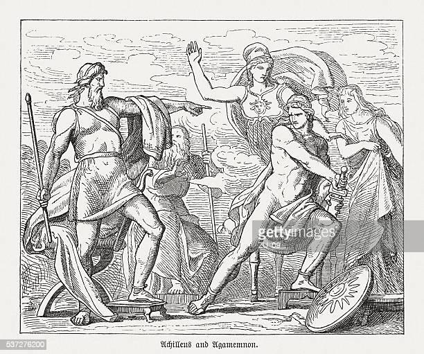 Disputa entre Aquiles e Agamenon, a mitologia Grega, publicada em 1880