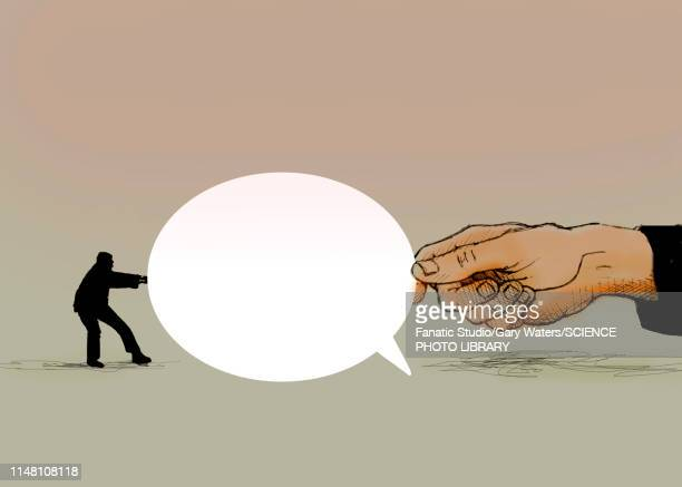 dispute, conceptual illustration - thought bubble stock illustrations