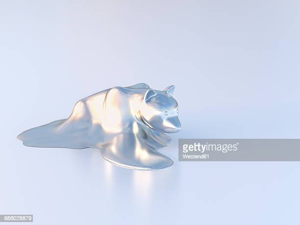 dissolving bear figurine - dissolving stock illustrations, clip art, cartoons, & icons