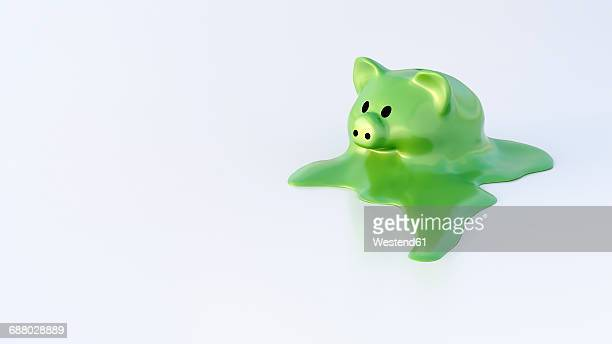 dissolving piggy bank - dissolving stock illustrations, clip art, cartoons, & icons